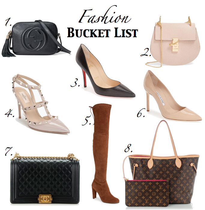 fashion bucket list