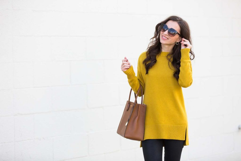 ribbed tunic sweater