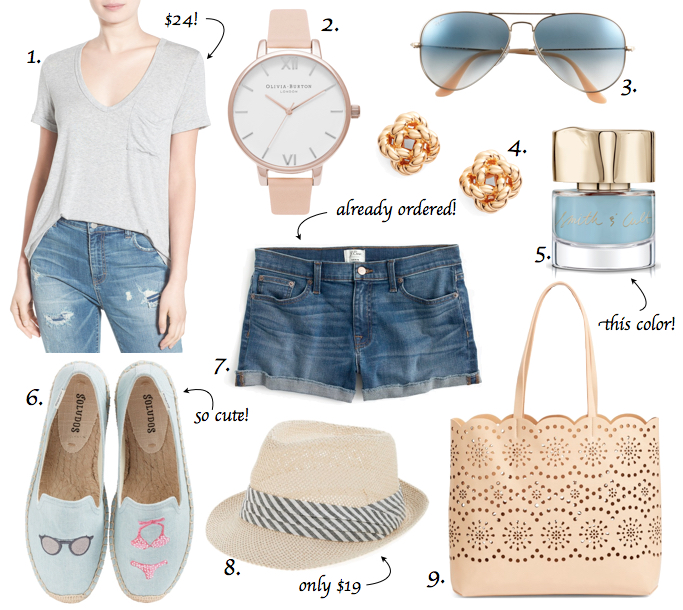warm weather wishlist