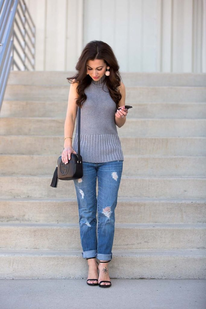 gray sweater tank