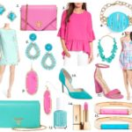 Pink and Turquoise