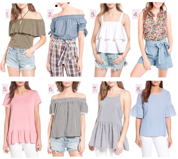 collage of cutest summer tops