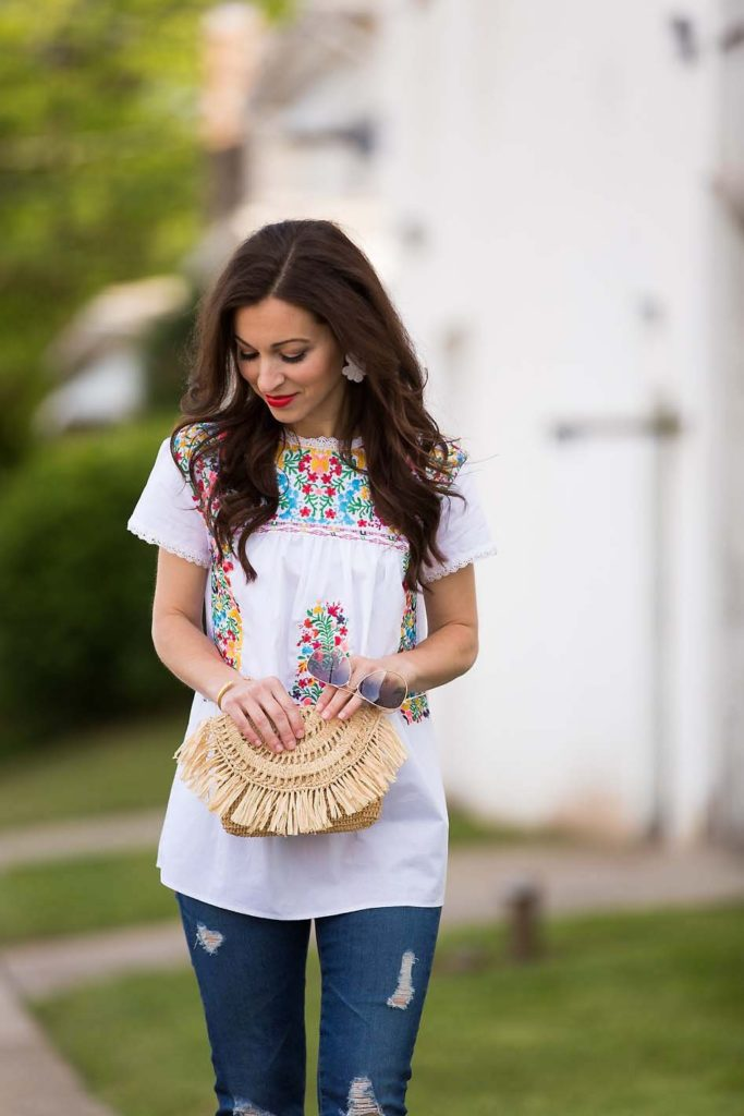 Mindy Mae's Market Embroidered Top