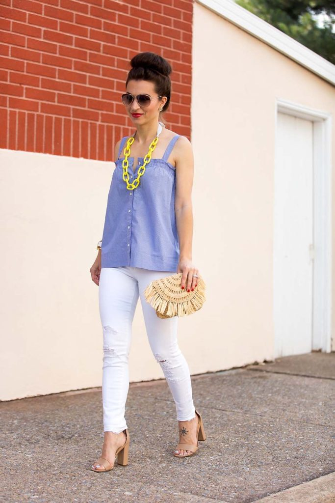 chambray and yellow