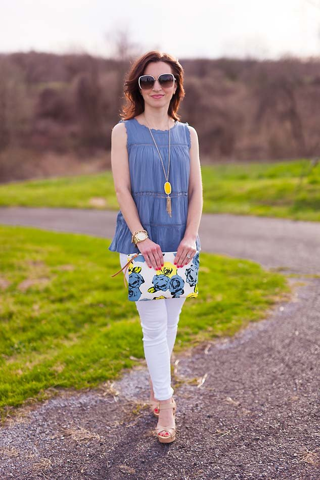 Turquoise Tunic Amp White Skinny Jeans Lipgloss Amp Labels