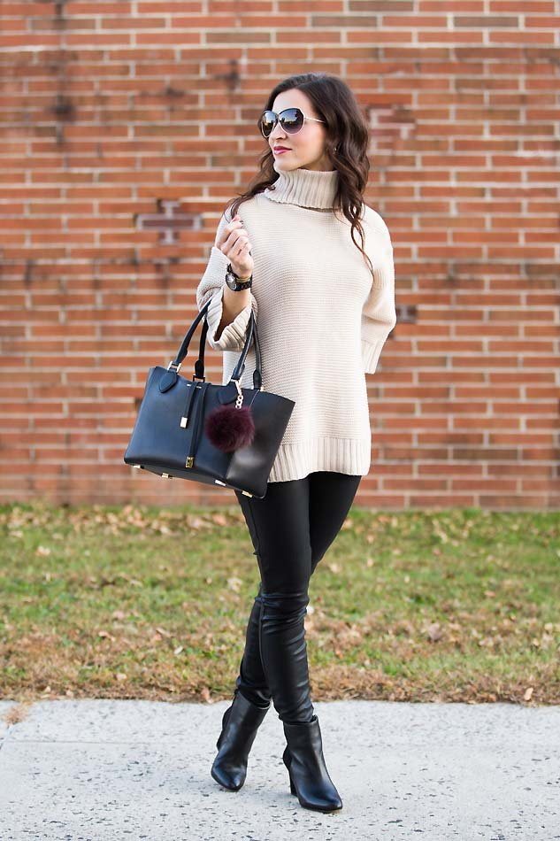 Oatmeal Turtleneck Sweater - Lipgloss & Labels
