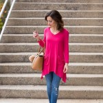 Pink Tunic / How to wear pink in Fall
