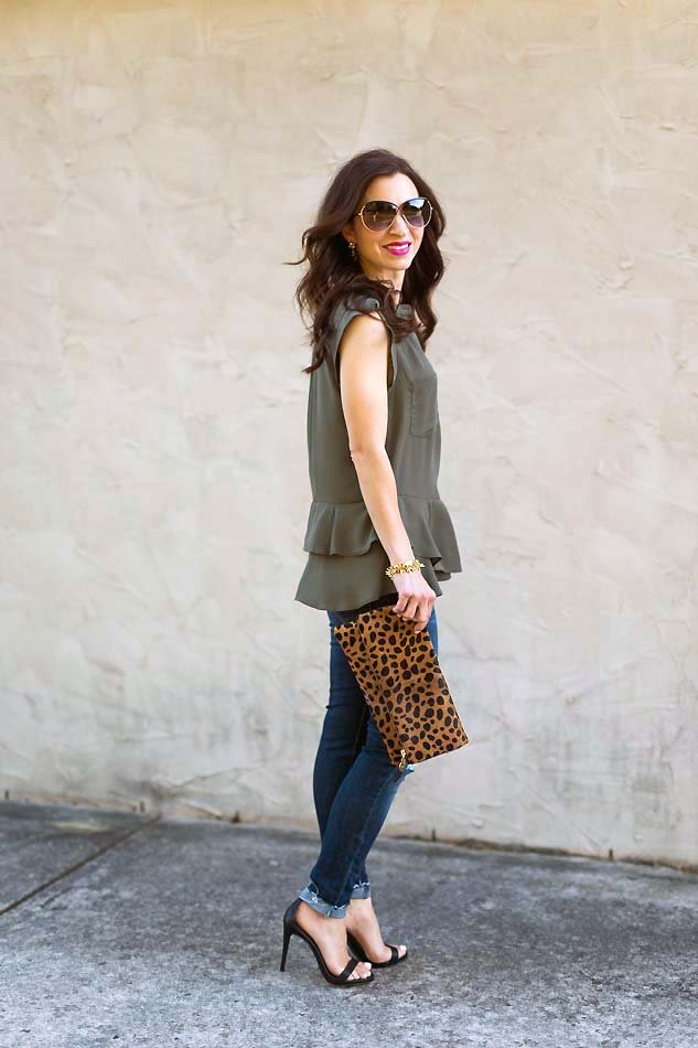 olive green tank