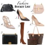 Fashion Bucket List