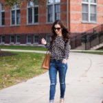 Leopard Sweater / Lace-Up Heels