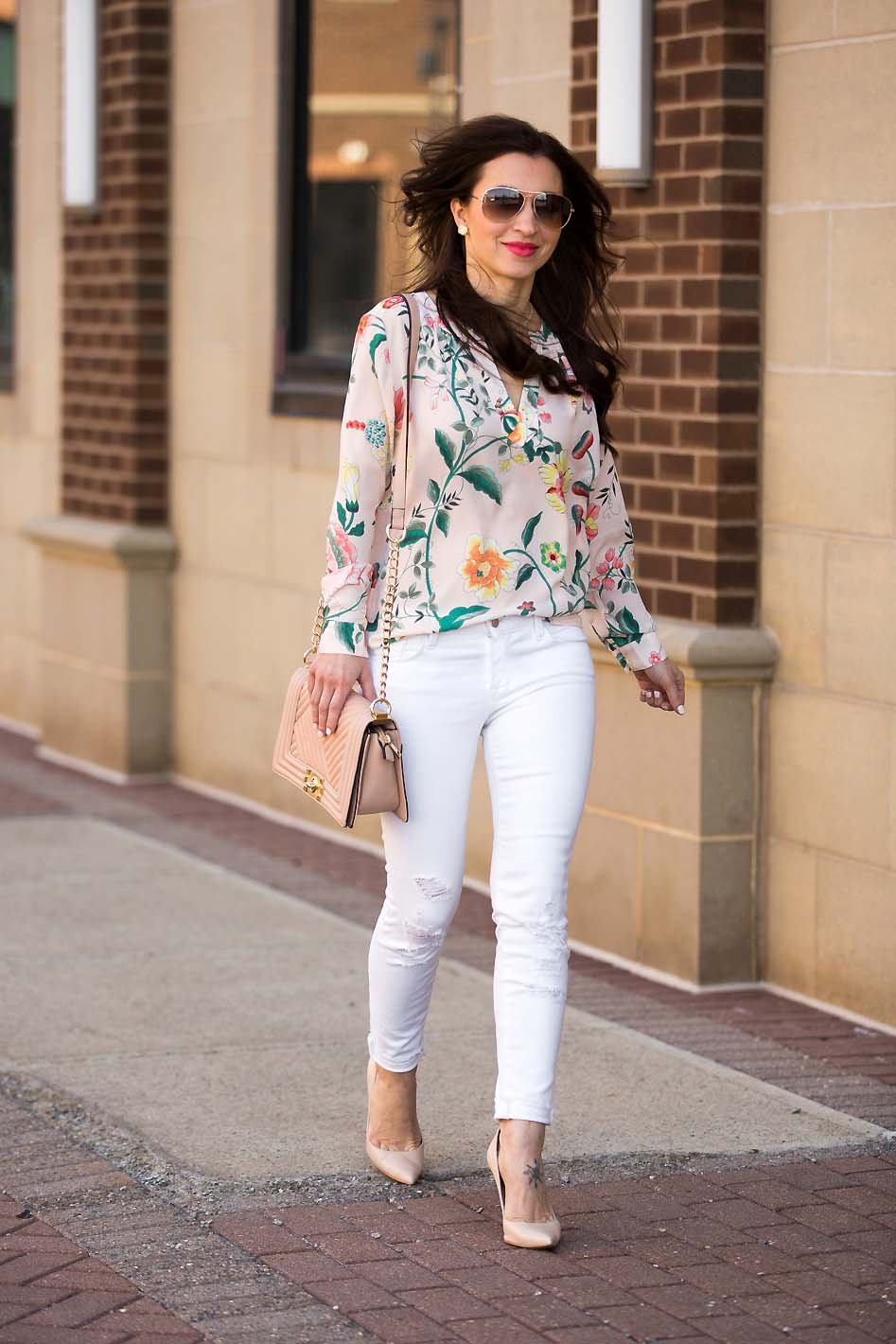 Floral Blush Blouse Easter Outfit Lipgloss Amp Labels