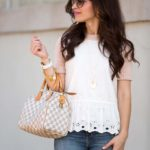 Eyelet Peplum Sweater