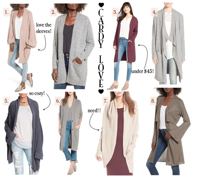 cardy love best cardigans for fall 2017