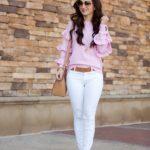 Pink Ruffle Sweater / #MoreThanPink