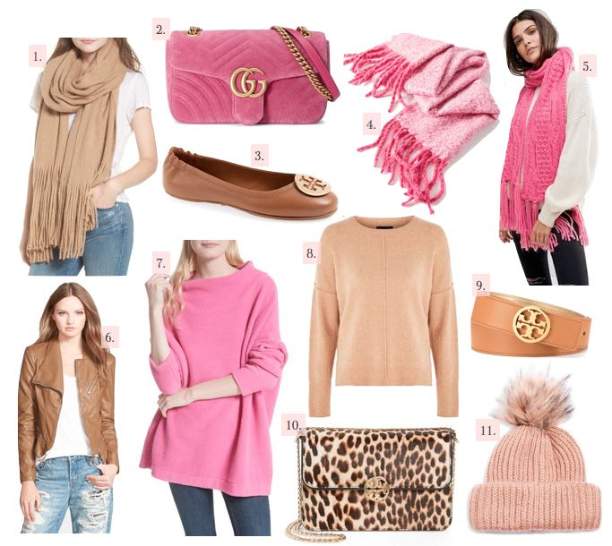 my favorite color combo for fall pink and tan