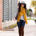 Mustard Scarf / Fall Layering