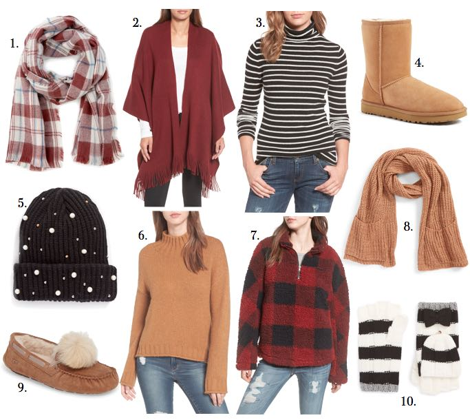 cozy Christmas scarf hat ugg boots slippers cozy sweaters