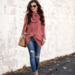 Knotted Cowl Neck Tunic