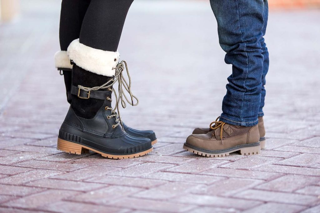 mother son winter style Kamik winter boots
