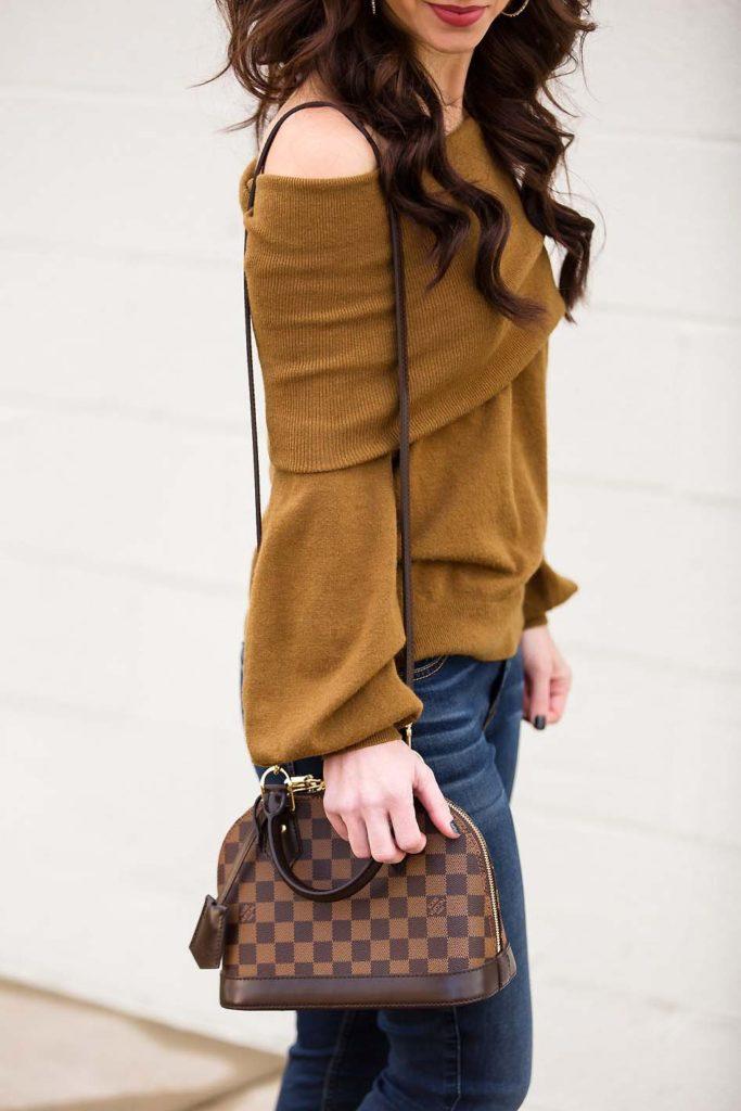 best off shoulder sweaters Louis Vuitton Alma BB
