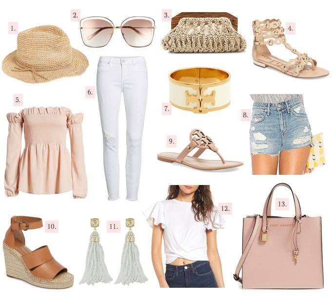 spring fever spring trends wishlist sandals summer bag shorts